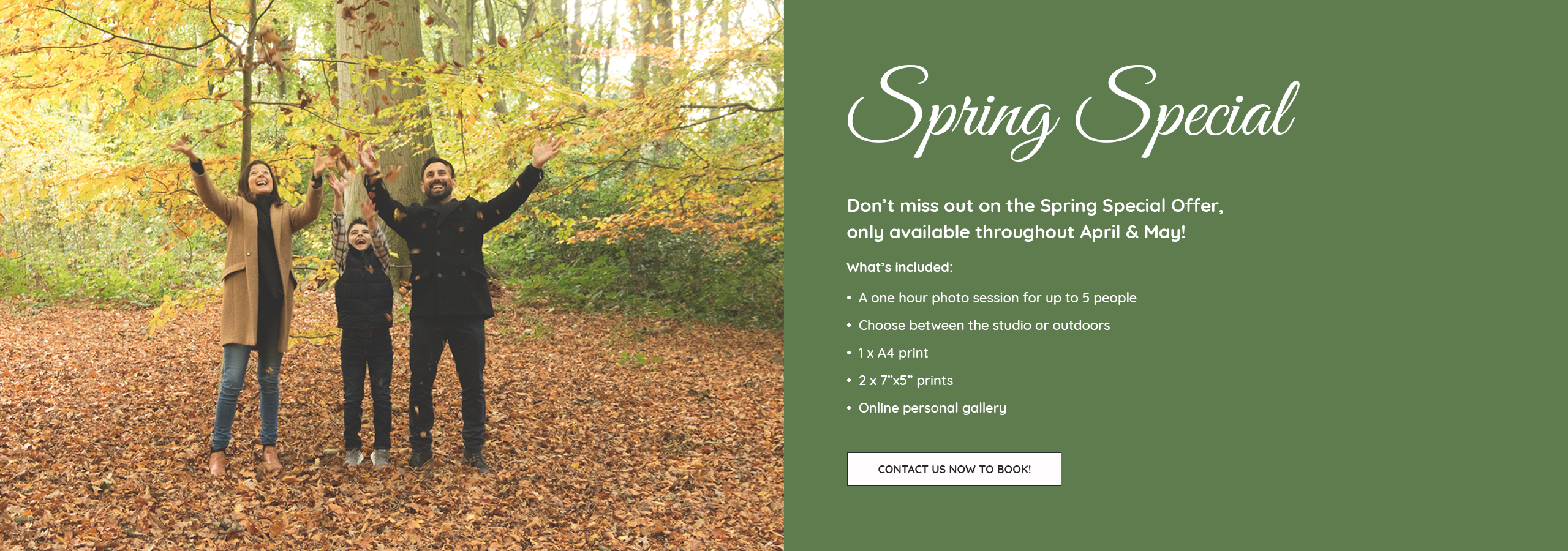 pure photography spring special offer new